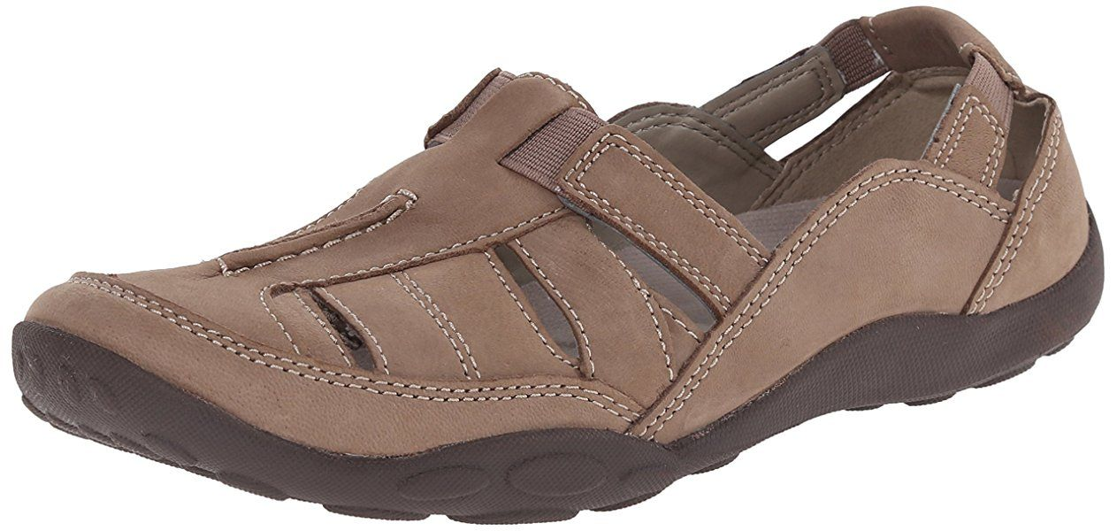 Womens Sandals Clarks Haley Moon Taupe Nubuck