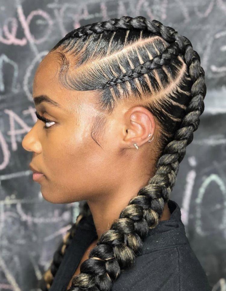 Cornrow Braid Hairstyles In 2020 African Hair Braiding Styles Feed In Braids Hairstyles Cornrow Hairstyles