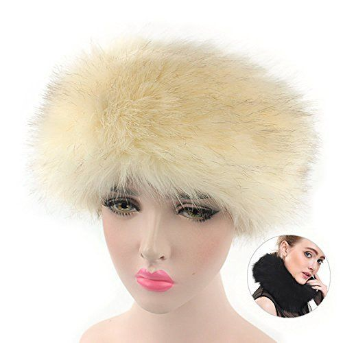 ed4a722a527 AStorePlus Cossack Russian Style Faux Fur Headband Hat Scarf for Women  Winter Ski Outdoor Outfit Head Neck Warmer Material  100% brand new    premium quality ...