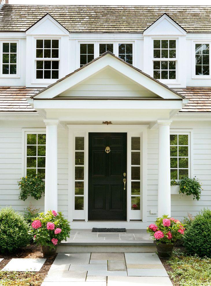 Sumptuous Door Knocker In Entry Traditional With Bluestone Walkway Next To  Black Front Door Alongside Front Door Overhang And Storm Door