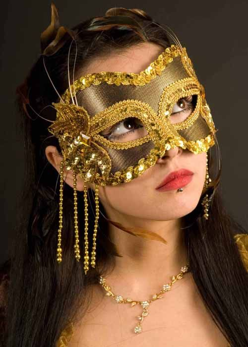 Masquerade Ball Gowns and Masks | masquerade eye masks gold beaded feather masked ball eye mask