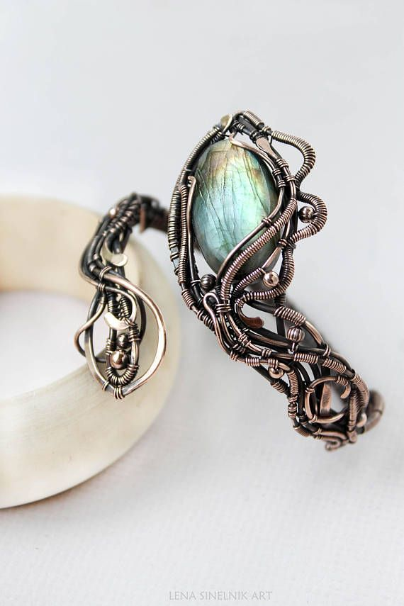 Labradorite bracelet Wire wrapped jewelry Wire wrap bracelet | Wire ...