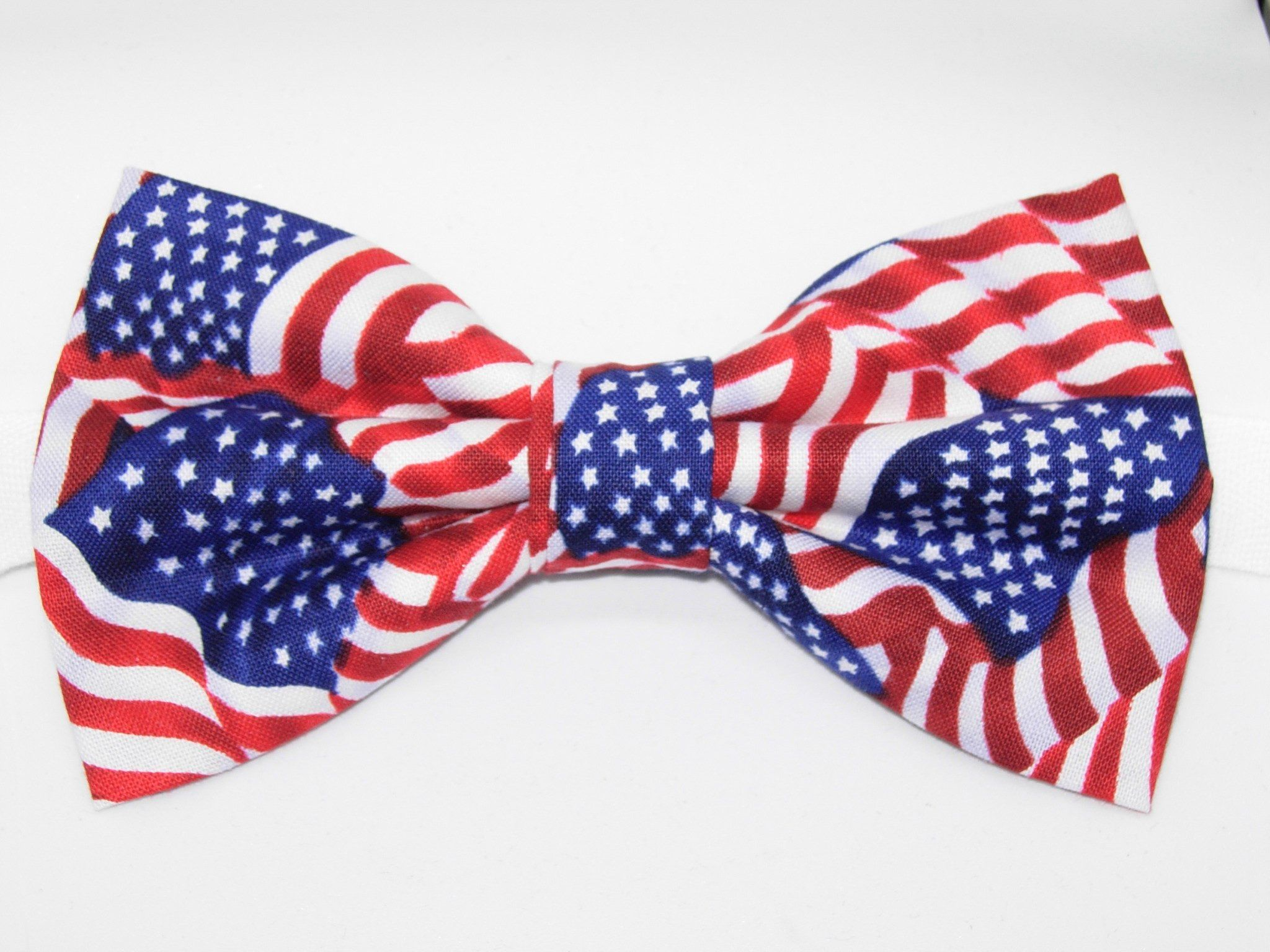 American flags pretied bow tie usa flags stars and stripes