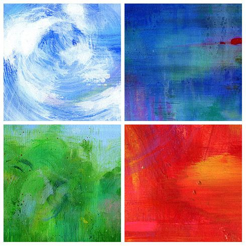 acrylic painting Beautiful artwork for canvas print. spiritual Gicl\u00e9e canvas print The power of Elements modern painting