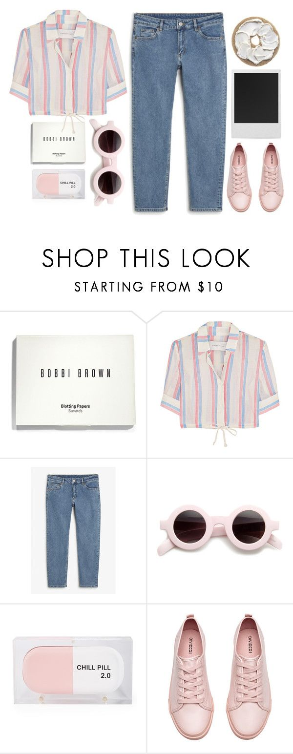 """#450"" by the777 ❤ liked on Polyvore featuring Bobbi Brown Cosmetics, Solid & Striped, Monki, Sarah's Bag, Polaroid and H&M"