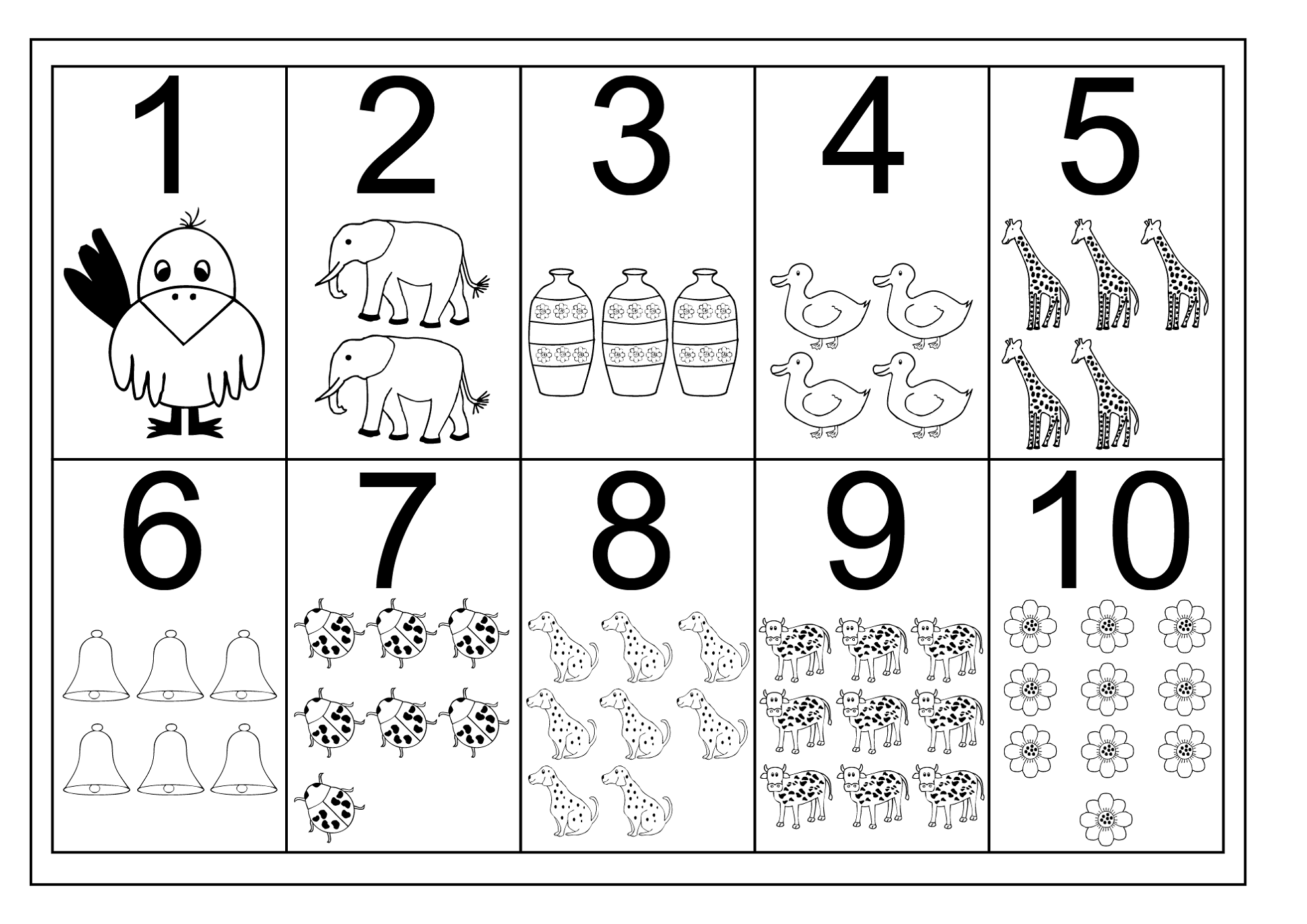 10 Dibujos Para Imprimir Y Colorear: Numbers 1 10 Worksheets - Bloggakuten