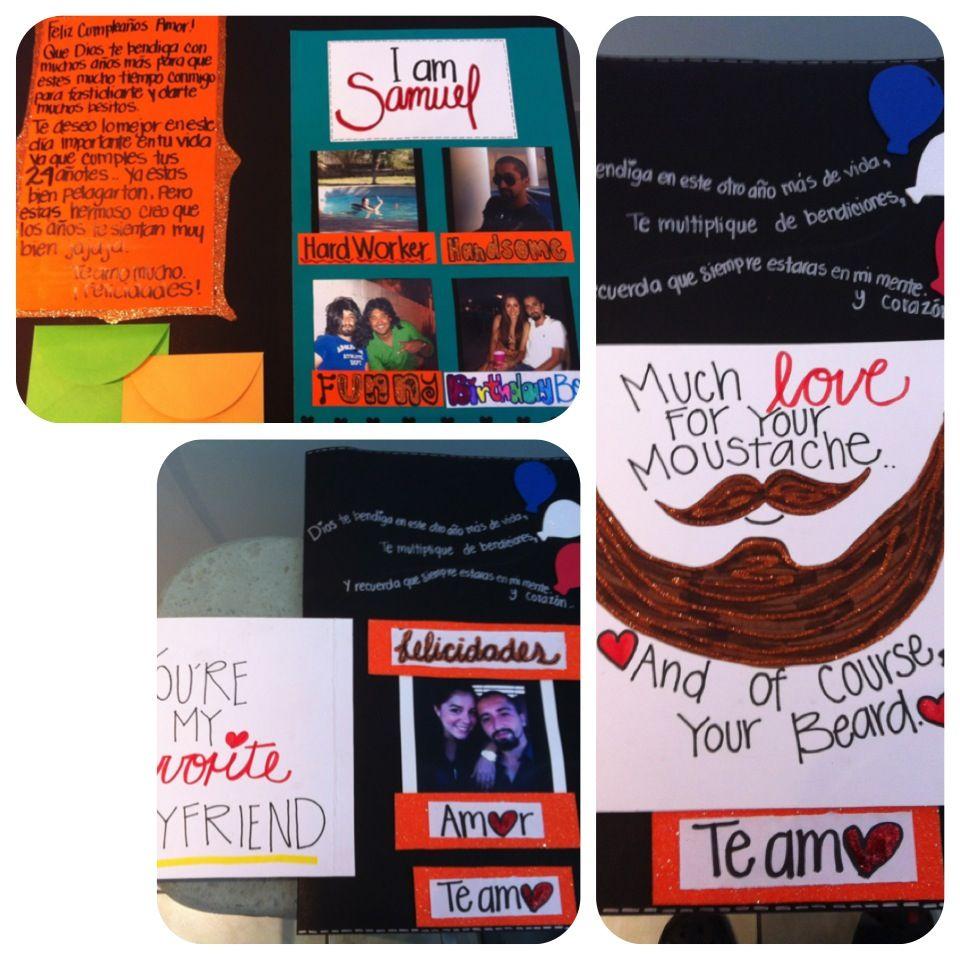 Tarjeta de regalo para mi novio #birthdaycard #birthdayboy #cumpleaños #24años Coti