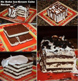 افكار لتزيين الكيك مجلة فحلات الجزائر Yummy Cakes No Bake Ice Cream Cake Recipe Ice Cream Cake
