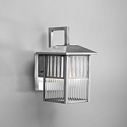 Brushed Nickel 1 Light Outdoor Wall Fixture