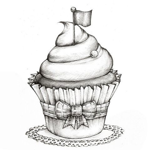 Madeleine Bellwoar   Рисунок кекса, Цифровые штампы, Картинки