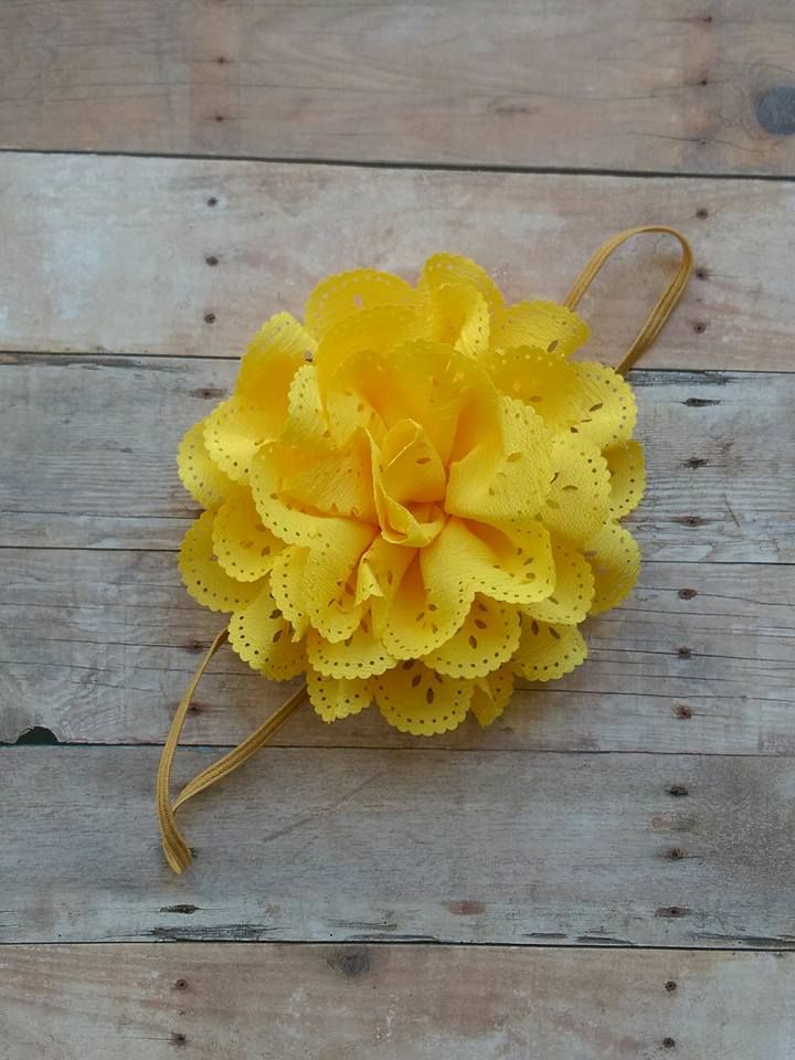 Large Yellow Flower Headband