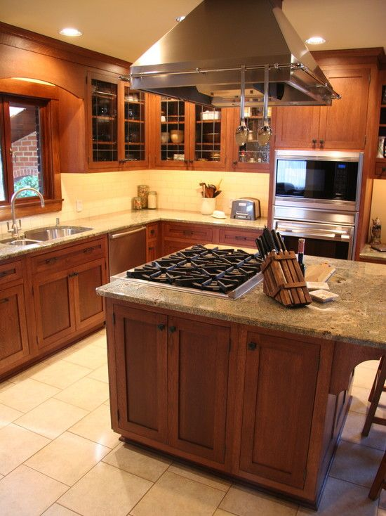 Kitchen Island With Cooktop Design Pictures Remodel Decor And