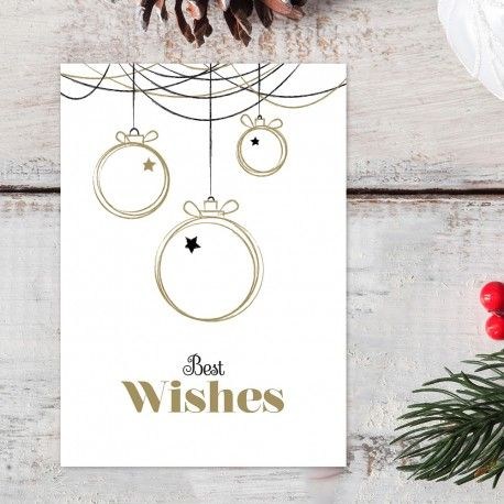 Kerstkaart Best Wishes