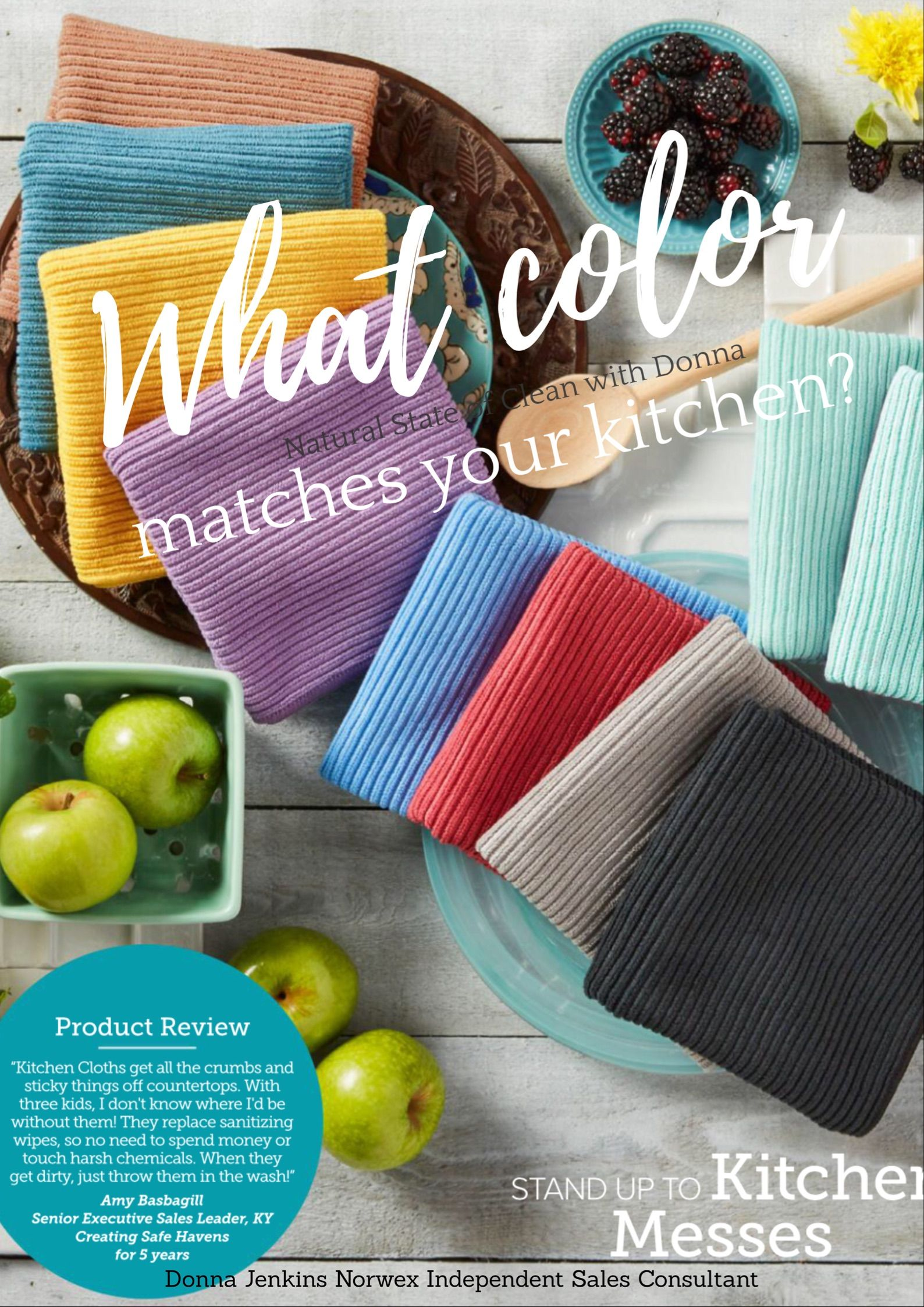 The Norwex Kitchen Cloths And Towels Come In 9 Color Choices Which One Matches Your Kitchen These Beauties Make It More Fun To Reach For A Cloth Rather Than