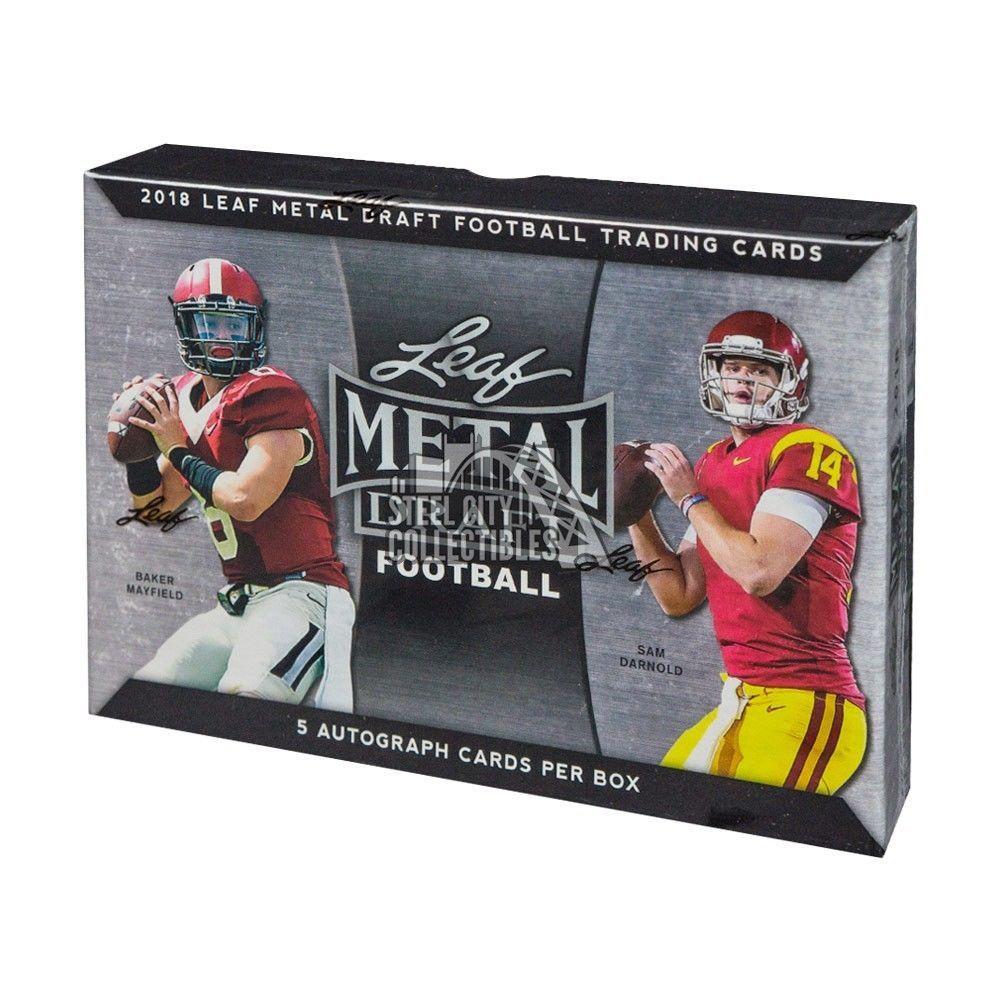 2018 leaf metal draft football hobby box football