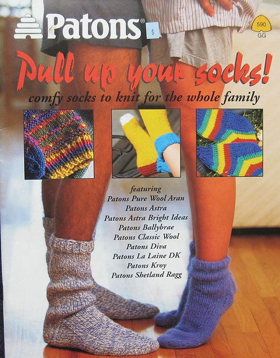 Knitting Pattern Books For Socks : Patons Pull Up Your Socks Knitting Pattern Book Warm, Knitting patterns and...