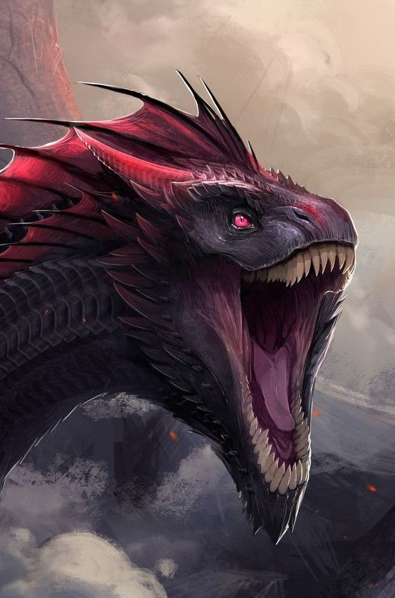Drogon | Dragon | Fantasy dragon, Dragon artwork, Dragon