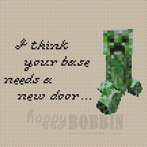 Minecraft Cross Stitch   Google Search