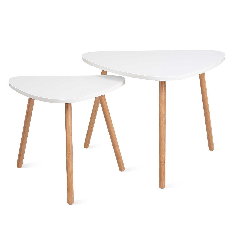 Amazon Com Homfa Nesting Coffee End Tables Modern Decor Side