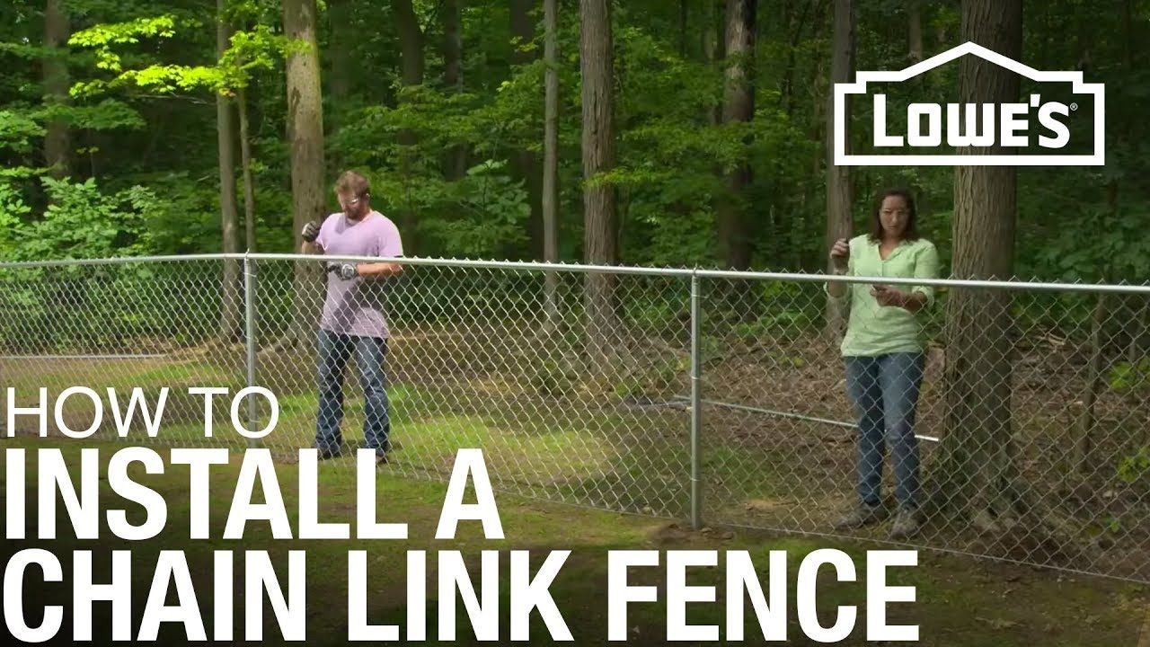 How To Install A Chain Link Fence In 2020 Chain Link Fence Installation Chain Link Fence Black Chain Link Fence