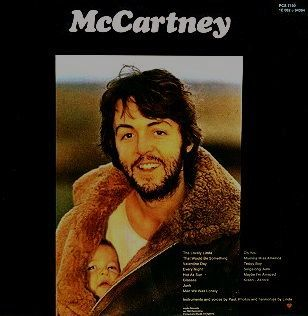 McCARTNEY 1970 ALBUM COVER Set against a black background