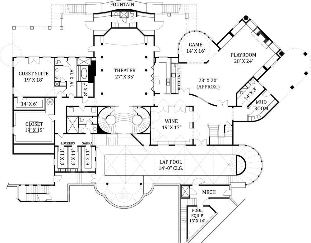 Castle of Ourem House Plan - Basement