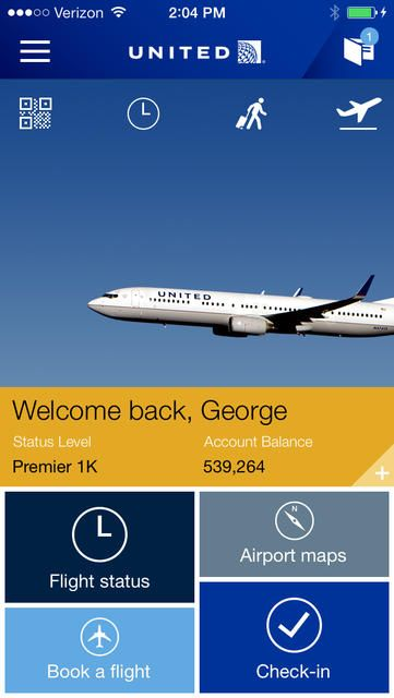 United Airlines - iPhone Mobile Analytics and App Store Data
