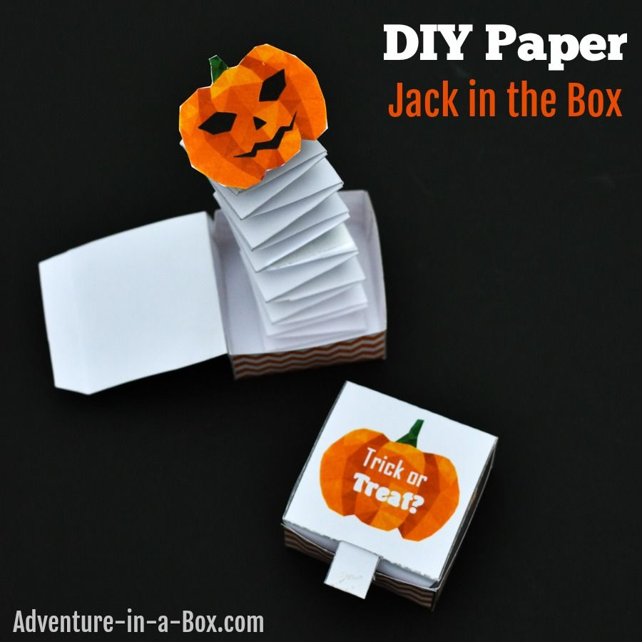 jack in the box paper toy with a free printable template art