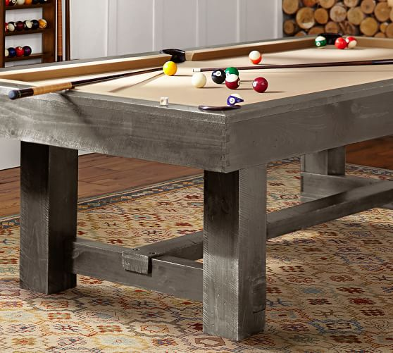 Benchwright Pool Table With Table Tennis Top Gray Wash In 2020 Pool Table Dining Table Pool Table Pool Furniture