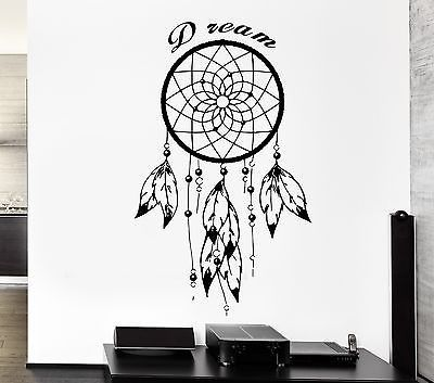 wall decal dreamcatcher dream catcher native american quote dream