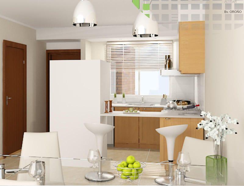 Como aprovechar un monoambiente de 25 metros cuadrados for Cocina 15 metros cuadrados
