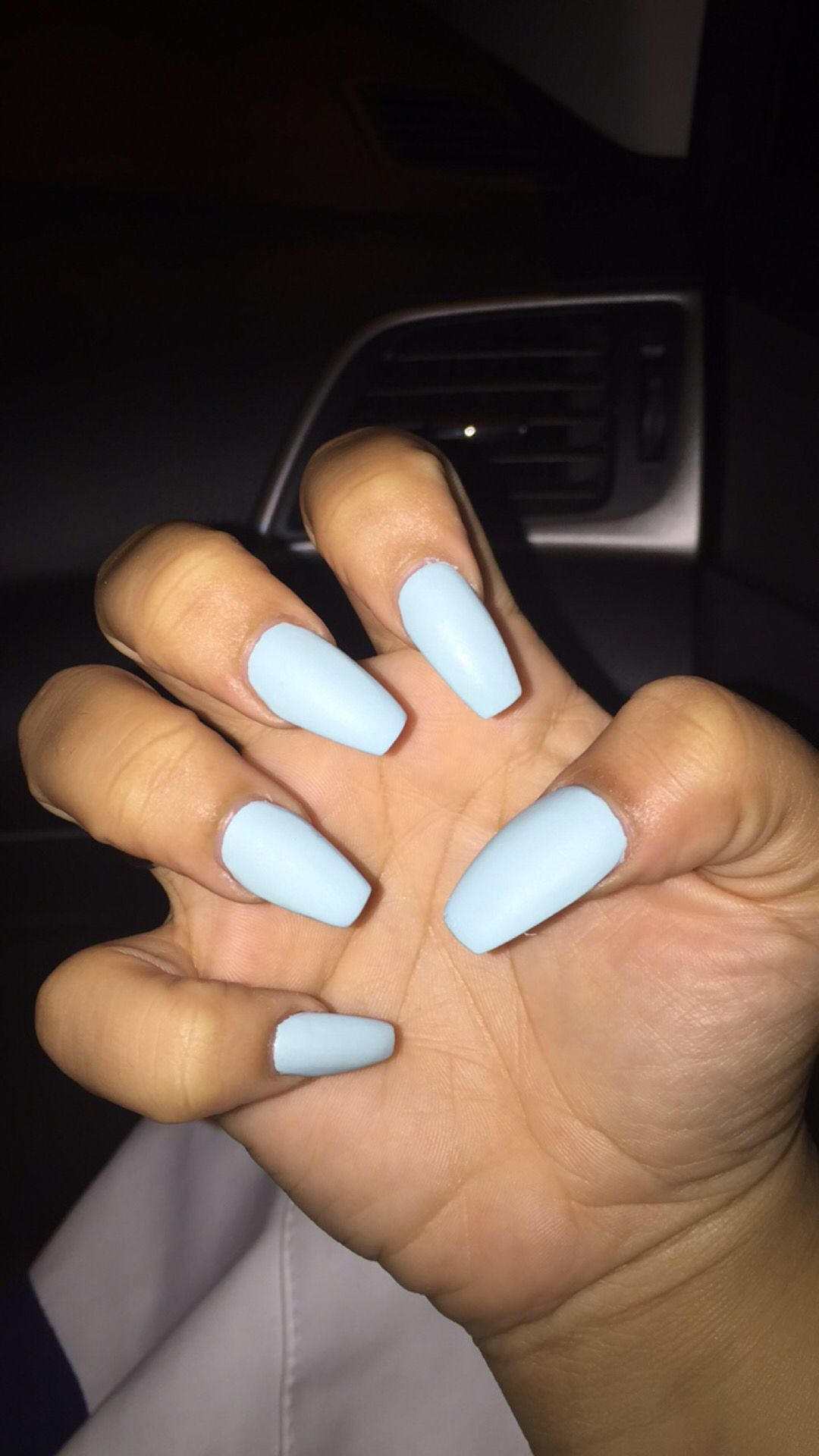 Mint Candy Le Coffin Shaped Nails Acrylic Long