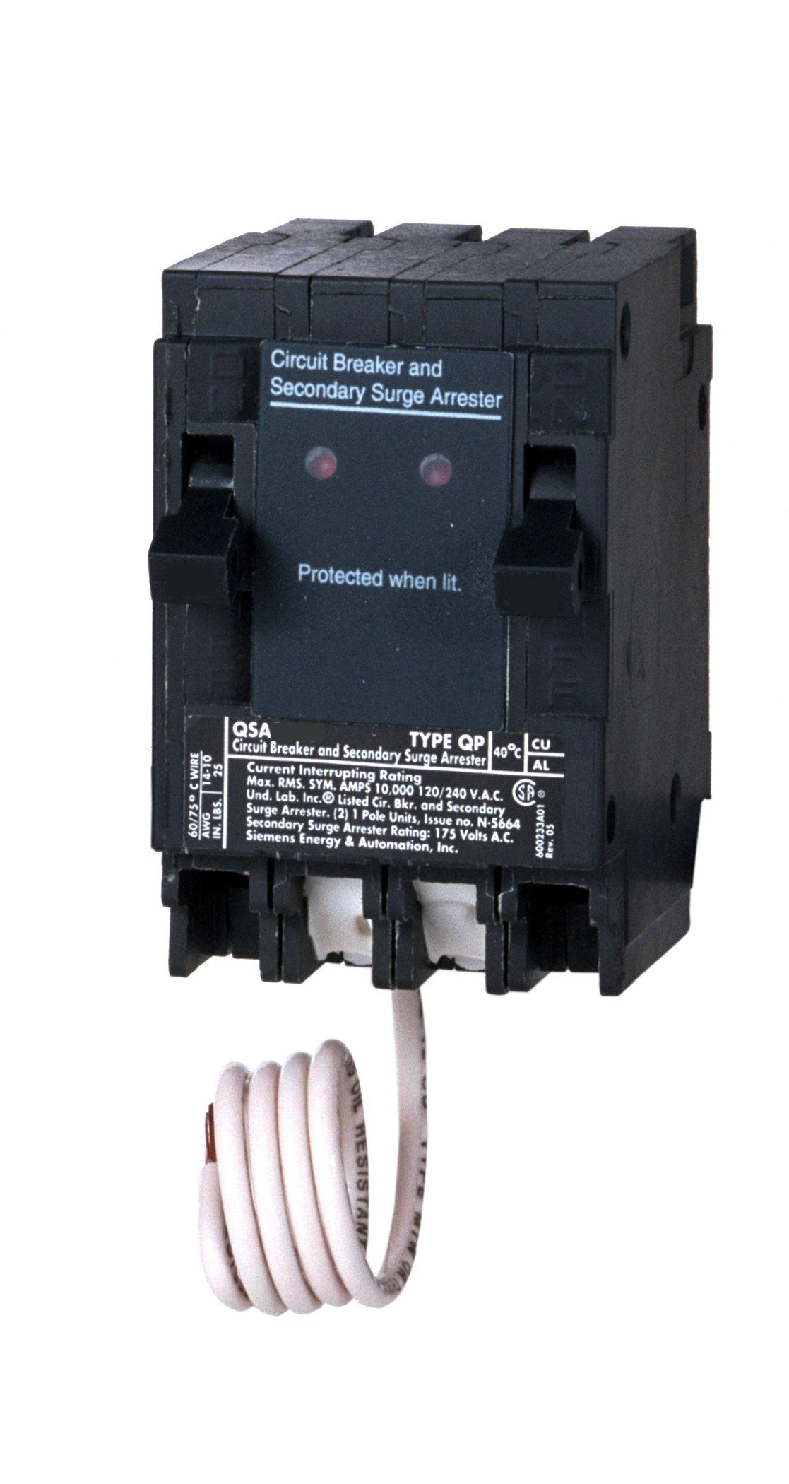 Siemens QSA1515SPD Whole House Surge Protection with Two 15-Amp ...