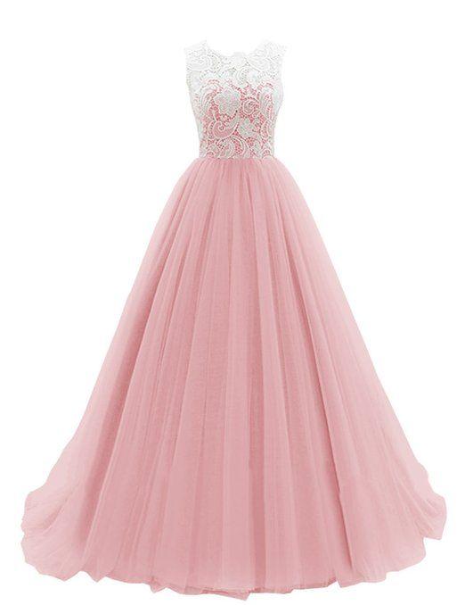 Dresstells Women\'s Long Tulle Ball Gowns Wedding Dress Evening ...