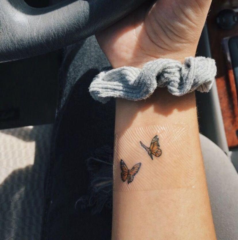 Butterfly Tattoo In 2020 Butterfly Tattoo Small Tattoos Homemade Tattoos