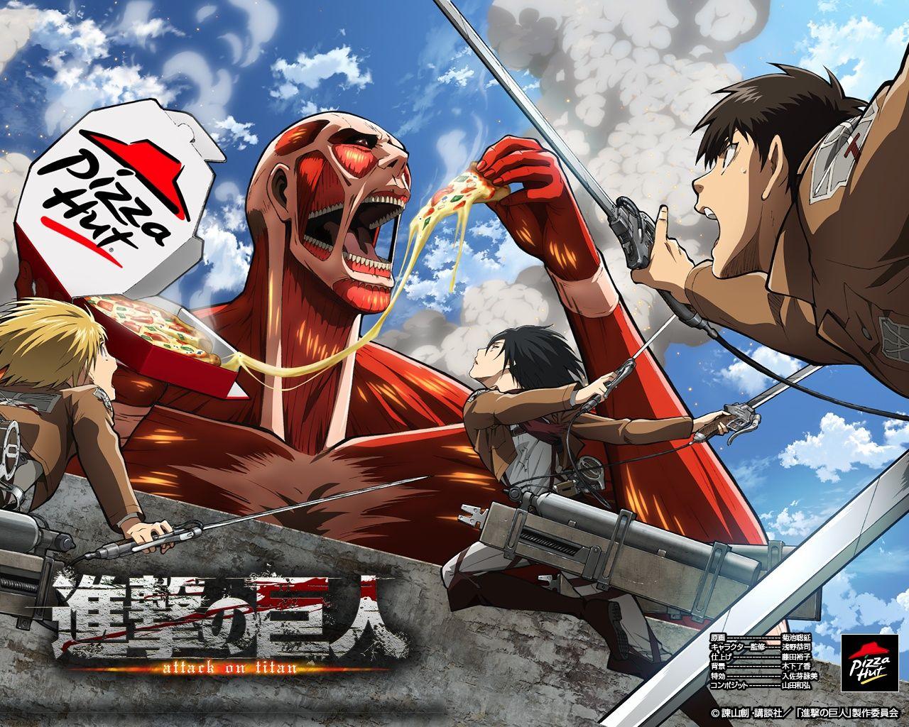 Attack on titan pizza hut advertising shingeki no kyojin