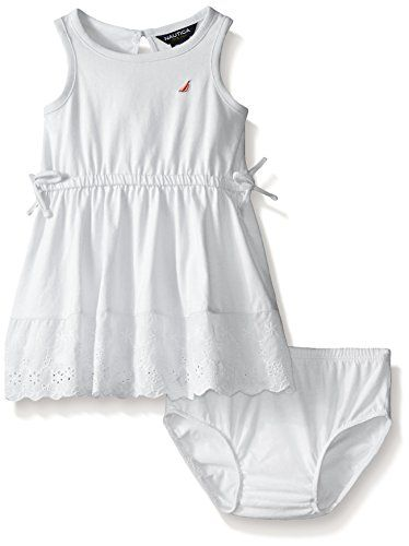 e1a8a5486 Nautica Baby Dress with Pieced Eyelet Trim Sail White 24 Months ...