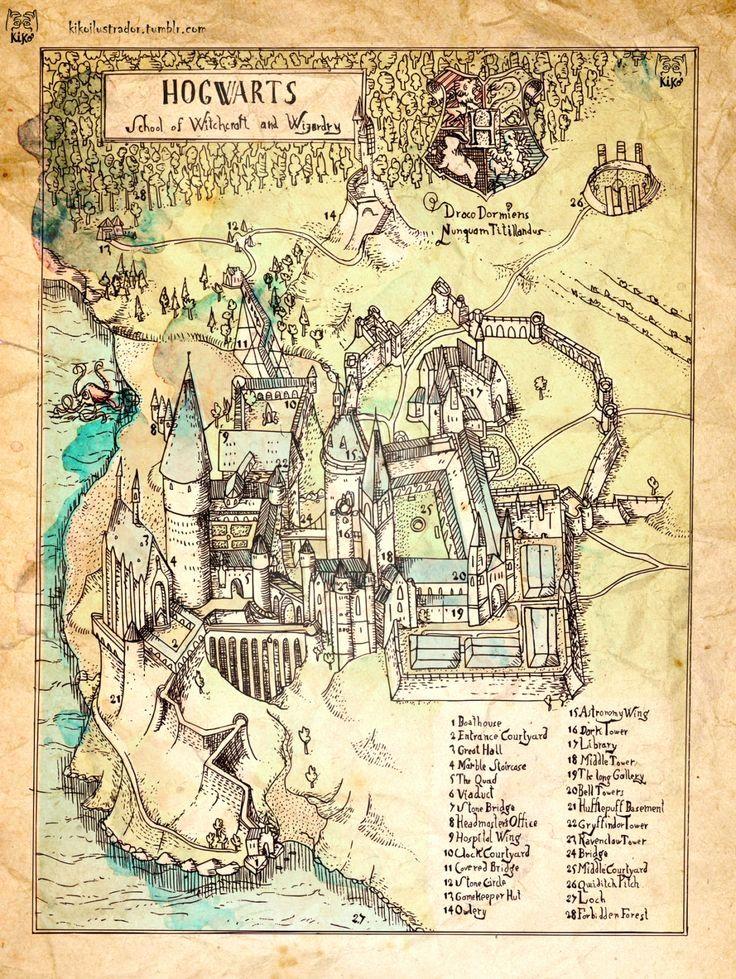 Harry Potter World Map harry potter world map elegant harry ...