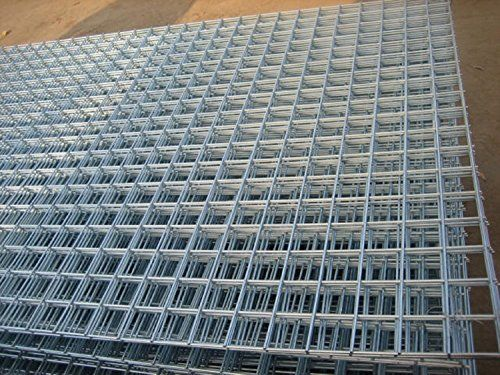 From 119 98 12 Pack Of 8ftx4ft Welded Mesh Panels 2 50mm Holes Galvanised Steel 2 5mm 12gauge Wire A Welded Wire Fence Wire Mesh Fence Welded Wire Panels