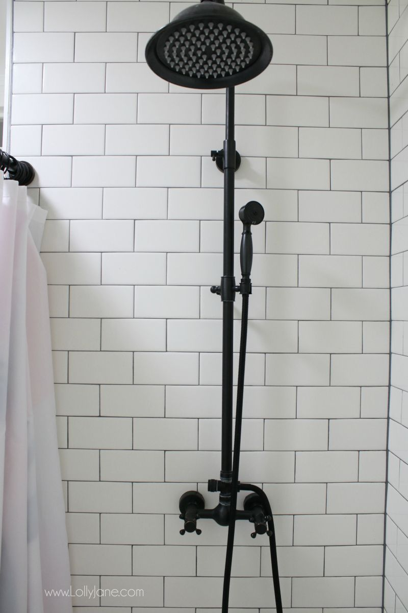 Farmhouse Bathroom Remodel Sources Lolly Jane Farmhouse Bathroom Accessories Bathroom Shower Faucets Farmhouse Shower