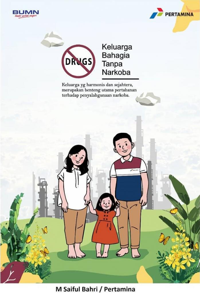 Keluarga Bahagia Tanpa Narkoba Bahagia, Desain poster