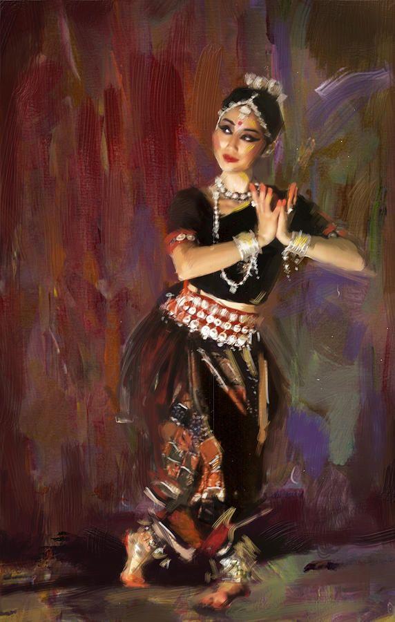 Classical Dance Art 2 By Maryam Mughal Dance Paintings India Art Indian Art