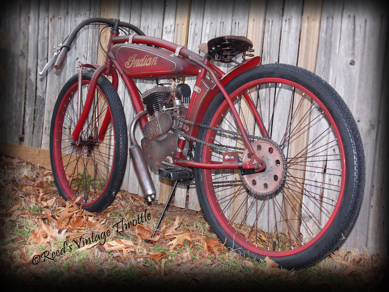 INDIAN-BOARD TRACK RACER ANTIQUE VINTAGE CAFE PRE-WAR BICYCLE HARLEY DAVIDSON
