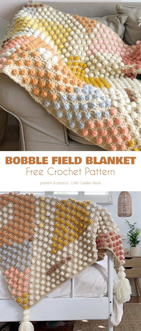 Bobble Blanket Free Crochet Patterns