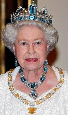 Queen Elizabeth Ii Wearing The Brazilian Aquamarine Tiara Royal Tiaras Royal Crown Jewels Royal Jewels