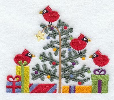 Christmas Cardinals design (A2738) from www.Emblibrary.com