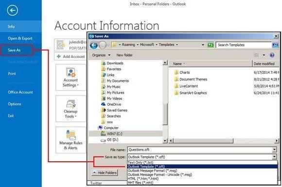 Microsoft Outlook F5 Save Template Outlook Hacks Organization