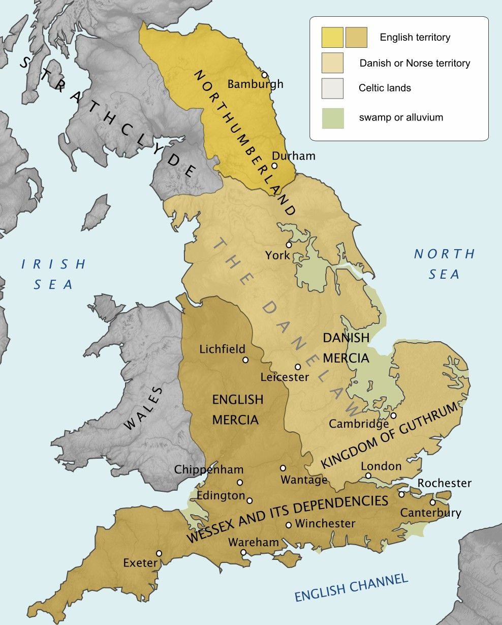Map Of England In 9th Century.England 9th Century Maps Gb Ireland Map Of Britain History