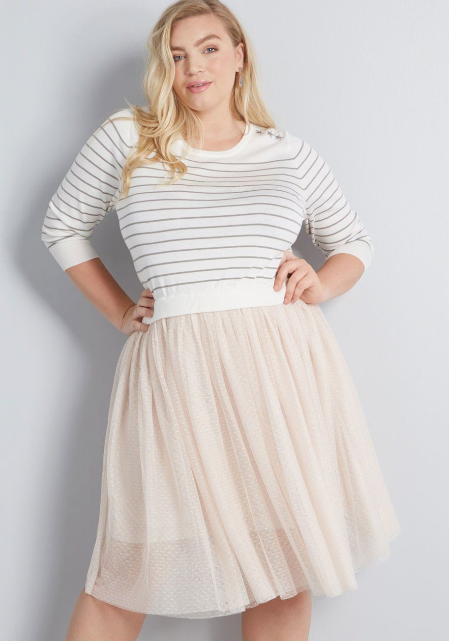 e1662673449 Flaunt Where You Want Twofer Dress Struck with a desire to sport this  twofer dress from our ModCloth namesake label all around town  We don t  blame you!