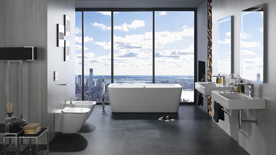 Urban #bathrooms ↼ Both Minimalism And Comfort In One #interiordesign  @NokenDesign